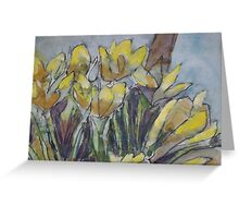 Daffodils in the morning sun Greeting Card