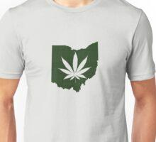 Marijuana Leaf Ohio Unisex T-Shirt