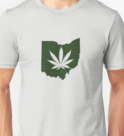 Marijuana Leaf Ohio Unisex T-Shirt