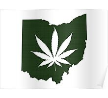 Marijuana Leaf Ohio Poster
