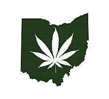 Marijuana Leaf Ohio Photographic Print