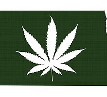 Marijuana Leaf North Dakota by surgedesigns