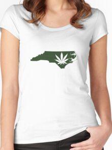 Marijuana Leaf North Carolina Women's Fitted Scoop T-Shirt