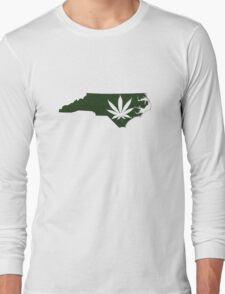 Marijuana Leaf North Carolina Long Sleeve T-Shirt