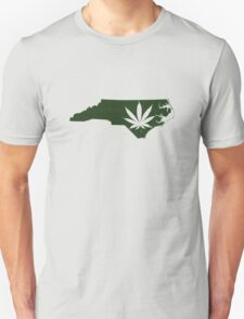 Marijuana Leaf North Carolina Unisex T-Shirt