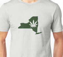 Marijuana Leaf New York Unisex T-Shirt