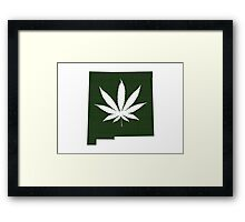 Marijuana Leaf New Mexico Framed Print