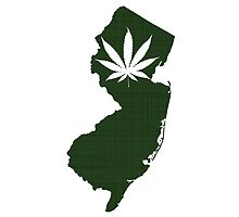 Marijuana Leaf New Jersey by surgedesigns