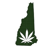 Marijuana Leaf New Hampshire by surgedesigns
