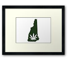 Marijuana Leaf New Hampshire Framed Print