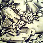 Cubist Life Drawing by jomillwood