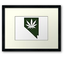 Marijuana Leaf Nevada Framed Print