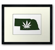 Marijuana Leaf Nebraska Framed Print