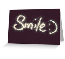 SMILE :) with Sparkler  Greeting Card