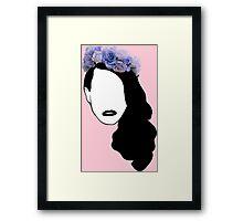 Lana Del Rey - Simplistic - Lips Framed Print