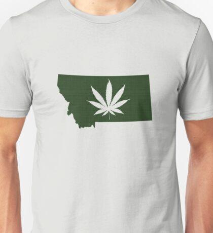 Marijuana Leaf Montana Unisex T-Shirt