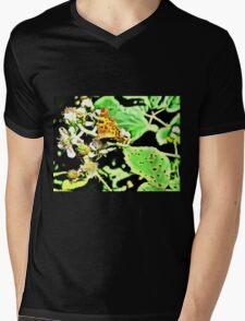 Comma on Brambles Mens V-Neck T-Shirt