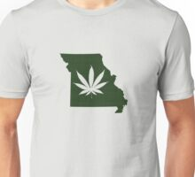Marijuana Leaf Missouri Unisex T-Shirt