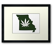 Marijuana Leaf Missouri Framed Print