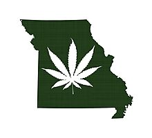 Marijuana Leaf Missouri Photographic Print