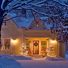 New England Christmas Home by George Robinson
