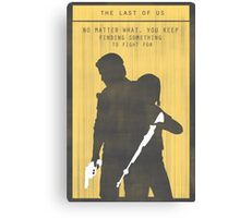 The Last Of Us Gaming Poster Canvas Print
