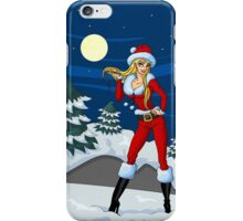 Moon light Santa Girl iPhone Case/Skin