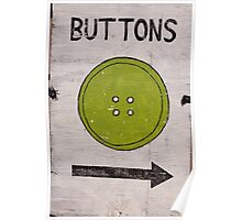 Button sign  Poster