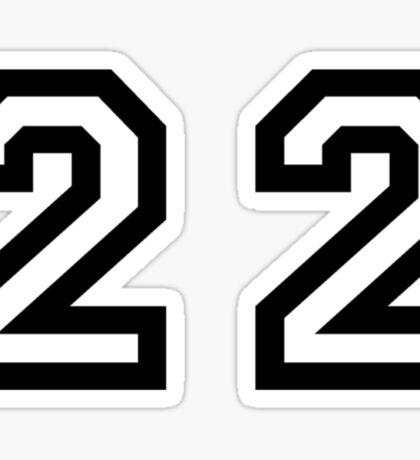 Twenty Two Sticker