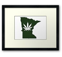 Marijuana Leaf Minnesota Framed Print