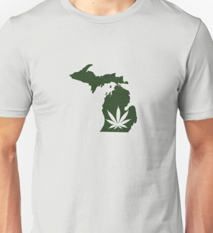 Marijuana Leaf Michigan Unisex T-Shirt