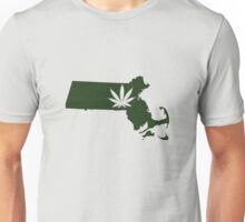 Marijuana Leaf Massachusetts Unisex T-Shirt