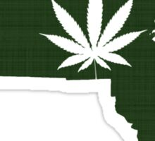 Marijuana Leaf Massachusetts Sticker