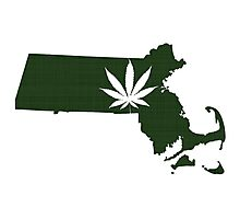 Marijuana Leaf Massachusetts Photographic Print