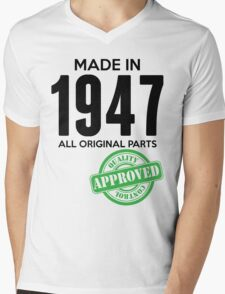 Made In 1947 All Original Parts - Quality Control Approved Mens V-Neck T-Shirt
