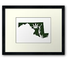 Marijuana Leaf Maryland Framed Print