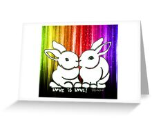 Love is Love Rabbits Greeting Card
