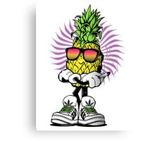 High Rolling Pineapple  Canvas Print