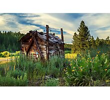 Old Lumber Mill Cabin Photographic Print