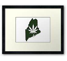 Marijuana Leaf Maine Framed Print