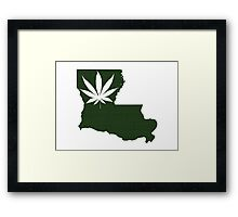 Marijuana Leaf Louisiana Framed Print