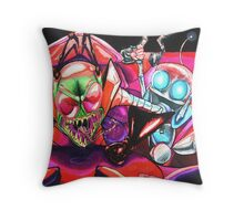 !!!ZIM!!! and Gir in the Voot Cruiser Throw Pillow