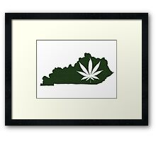 Marijuana Leaf Kentucky Framed Print