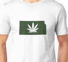 Marijuana Leaf Kansas Unisex T-Shirt