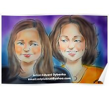 Hand Painted Portrait Poster