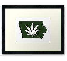 Marijuana Leaf Iowa Framed Print
