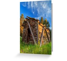 Evening Light On An Old Cabin Greeting Card