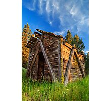 Evening Light On An Old Cabin Photographic Print