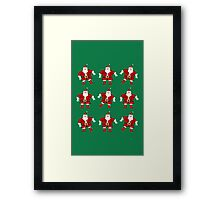 Santa Dance Framed Print