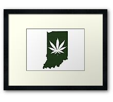 Marijuana Leaf Indiana Framed Print